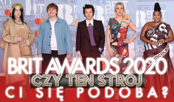 BRIT Awards 2020: Czy ten strój Ci się podoba?