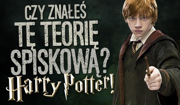 Czy znałeś tę teorię spiskową? – Harry Potter!