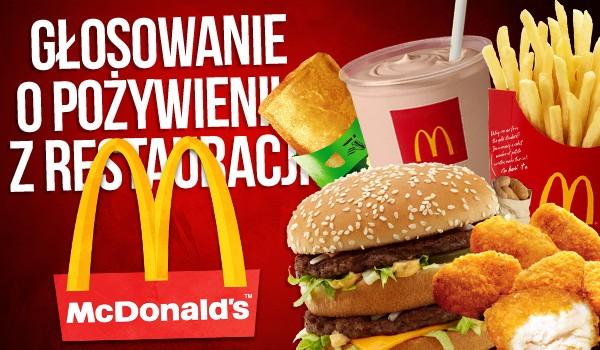 Głosowanie o pożywieniu z restauracji McDonald's
