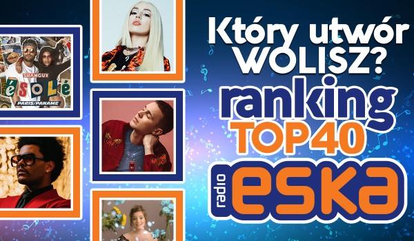 Który utwór wolisz? – Ranking radia ESKA Top 40