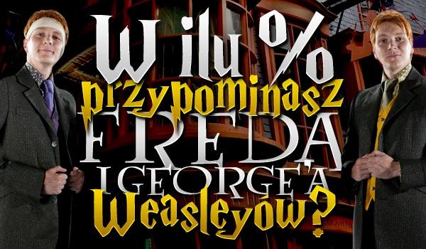 W ilu % przypominasz Freda i George'a Weasleyów?