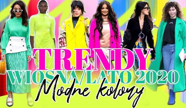 Trendy wiosna-lato 2020: modne kolory.