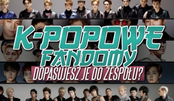 K-popowe fandomy – Dopasujesz je do zespołu?