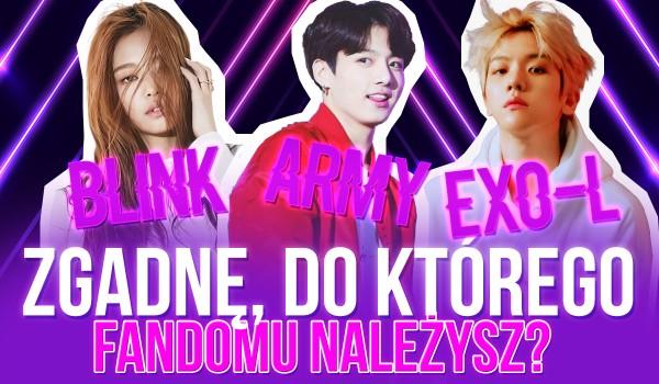BLINK, A.R.M.Y czy EXO-L? Zgadnę, do którego fandomu należysz!