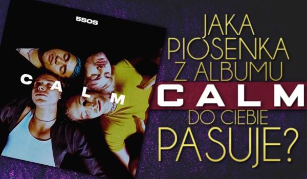 "Jaka piosenka z albumu ""CALM"" do Ciebie pasuje?"