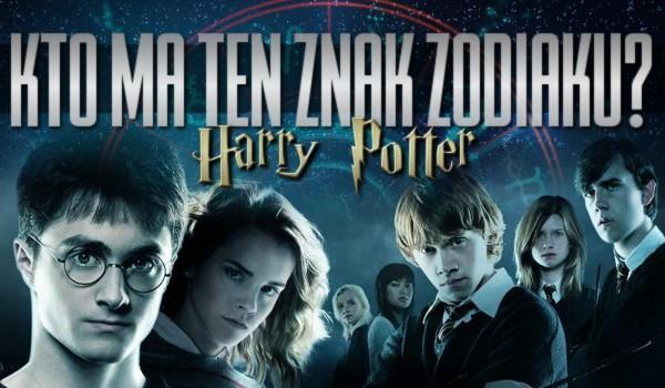 """Kto ma ten znak zodiaku? – edycja """"Harry Potter""""!"""