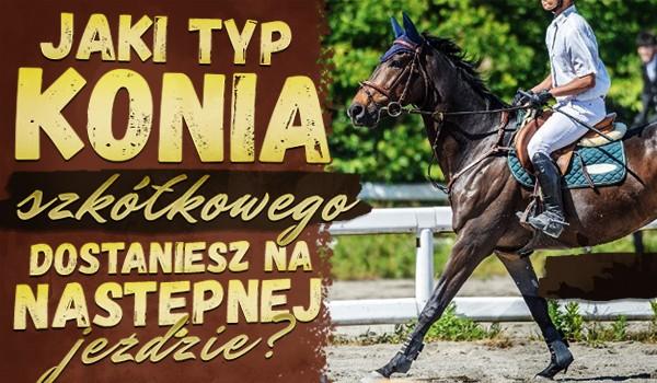 Jaki typ konia szkółkowego dostaniesz na następnej jeździe?