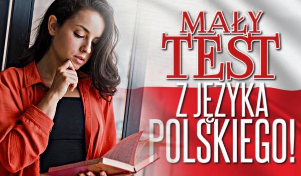 Mały test z języka polskiego