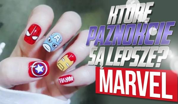 Które paznokcie są ładniejsze – Marvel