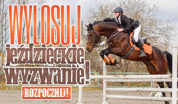 Wylosuj jeździeckie wyzwanie!