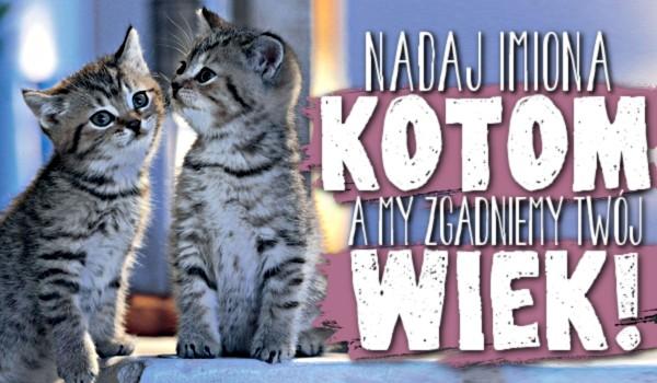 Nadaj imiona kotom, a my zgadniemy Twój wiek!