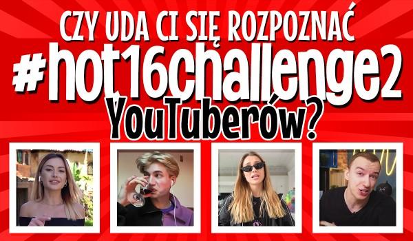 Czy uda Ci się rozpoznać #hot16challenge2 YouTuberów?