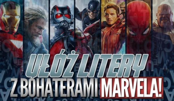 Ułóż litery z bohaterami Marvela!