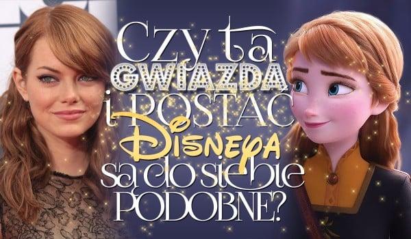 Czy ta gwiazda i postać Disneya są do siebie podobne? Głosowanie!