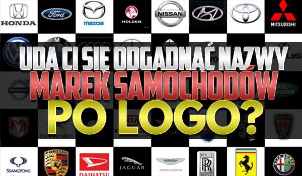Czy uda Ci się nazwać nazwy marek samochodów po logo?