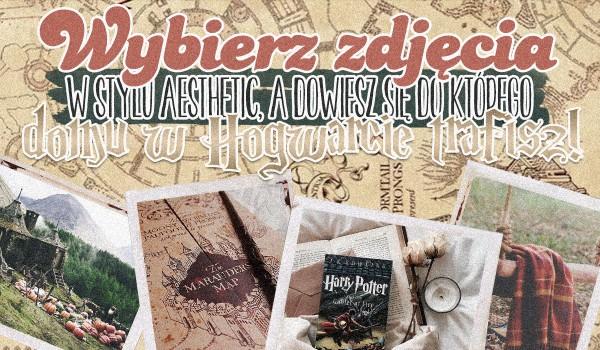 Wybierz zdjęcie w stylu Aesthetic związane z Harrym Potterem, a dowiesz się, do jakiego domu w Hogwarcie trafisz!