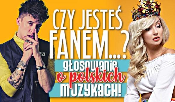 Czy jesteś fanem…? – Głosowanie o polskich muzykach!