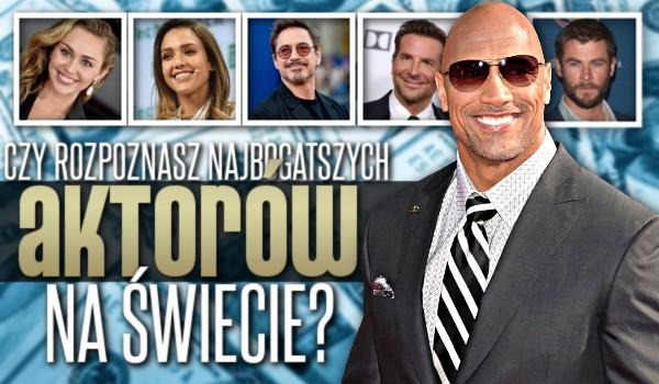 Czy rozpoznasz najbogatszych aktorów na świecie?