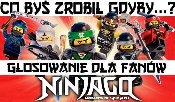 Co byś zrobił, gdyby…? Głosowanie dla fanów Ninjago!
