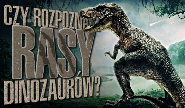 Rozpoznasz rasy dinozaurów?