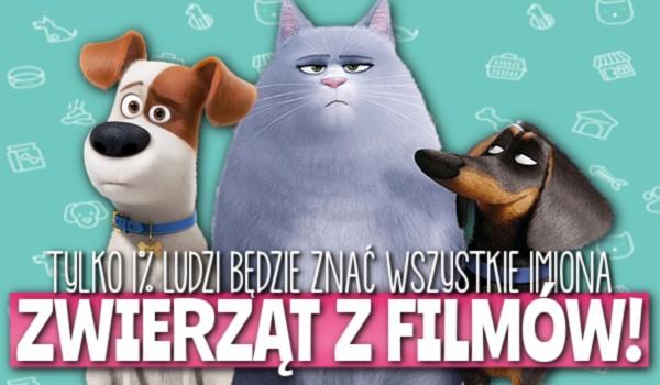 Tylko 1% ludzi będzie znać wszystkie imiona zwierząt z filmów!