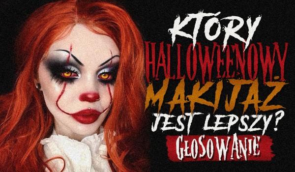 Który halloweenowy makijaż jest lepszy?