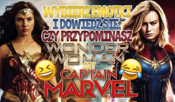 Wybierz emotki i dowiedz się, czy jesteś jak Wonder Woman czy Kapitan Marvel!