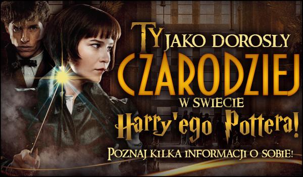 Ty jako dorosły czarodziej w świecie Harry'ego Pottera – Poznaj kilka informacji o sobie! [ZDRAPKA]