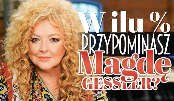 W ilu procentach przypominasz Magdę Gessler?