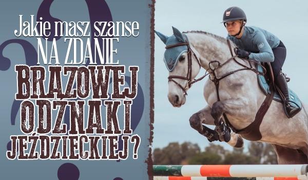 Jakie masz szanse na zdanie Brązowej Odznaki Jeździeckiej?