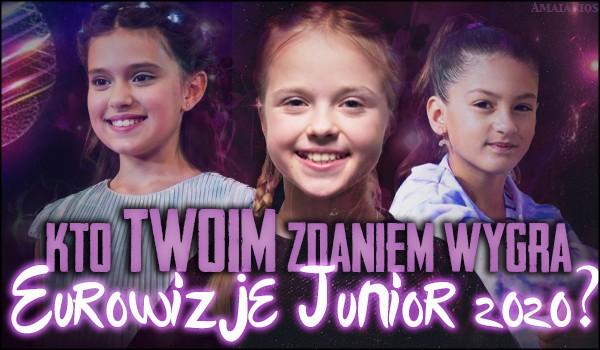 """Kto Twoim zdaniem wygra """"Eurowizję Junior 2020""""?"""