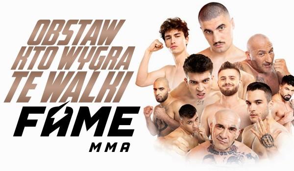 Obstaw, kto wygra walki na Fame MMA 8!