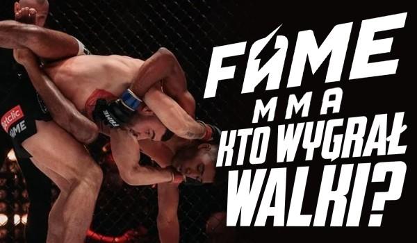 Fame MMA 8 – Kto wygrał te walki?
