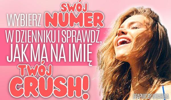 Wybierz swój numer z dziennika i sprawdź, jak ma na imię Twój crush!