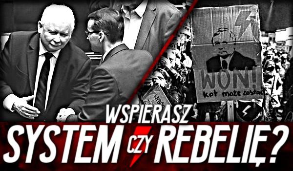 Wspierasz system czy rebelię?