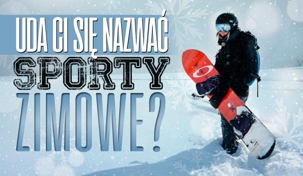 Czy uda Ci się nazwać te sporty zimowe?