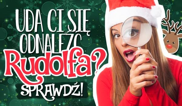 Czy uda Ci się odnaleźć Rudolfa na świątecznych obrazkach?