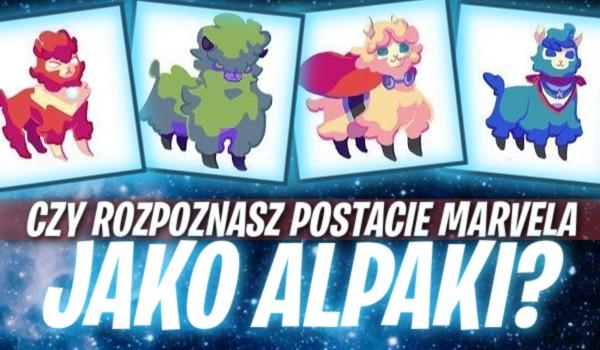 Rozpoznasz postacie Marvela jako alpaki?