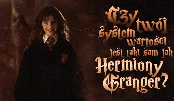 Czy Twój system wartości jest taki sam jak Hermiony Granger?