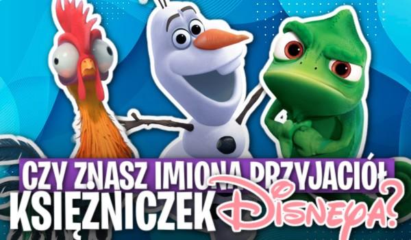 Czy znasz imiona przyjaciół księżniczek Disneya?