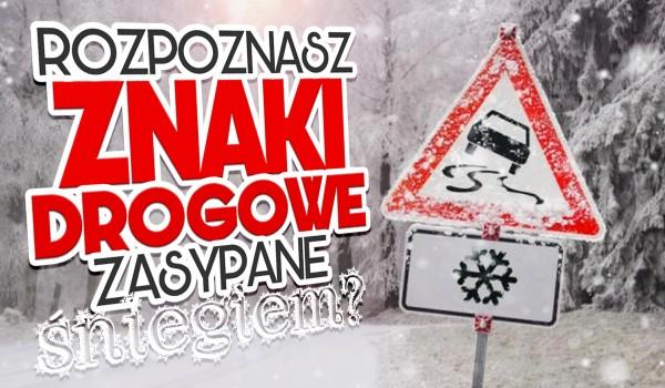 Czy rozpoznasz znaki drogowe zakryte śniegiem?