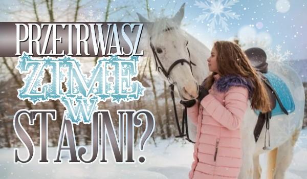Czy przetrwasz zimę w stajni?