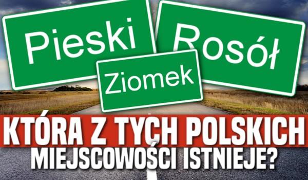 Która z tych polskich miejscowości istnieje?