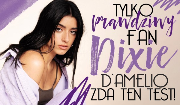 Tylko prawdziwy fan Dixie D'Amelio zda ten test!
