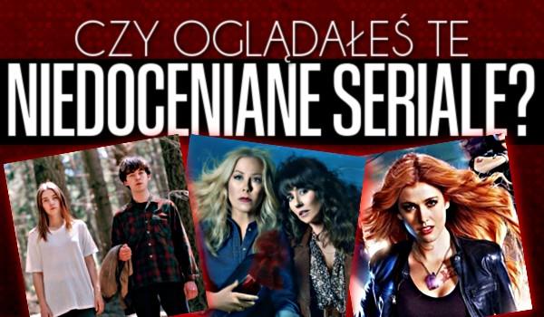 Czy oglądałeś te niedocenione seriale?