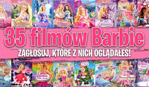 35 filmów Barbie – Zagłosuj, które z nich oglądałeś!