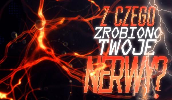 Z czego zrobiono Twoje nerwy?