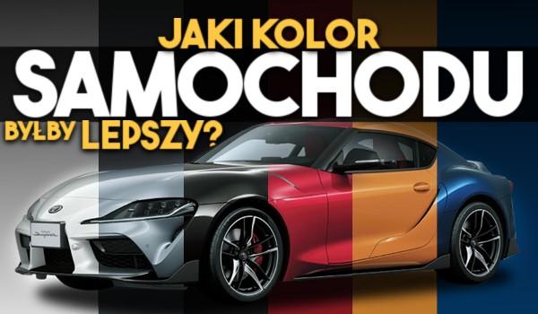 Jaki kolor samochodu byłby lepszy?