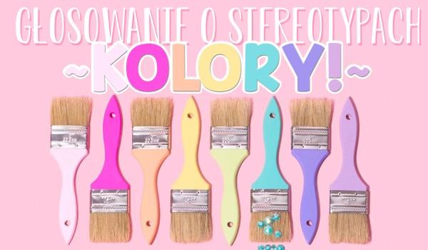 Głosowanie o stereotypach – kolory!