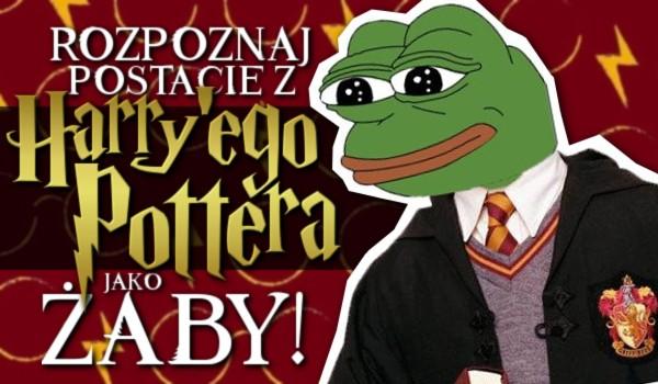 Rozpoznaj postacie z Harry'ego Pottera jako żaby!
